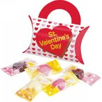 バレンタイン・ハートチョコ(5粒入)61-74 かわいいケースにハート型のチョコレート入 義理チョコ 1個から注文可能