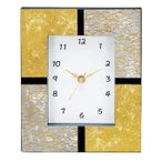 金沢箔漆芸時計 スクエア  K-1986 金沢箔と加賀蒔絵の置掛両用時計