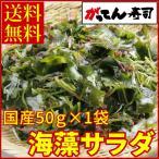 国産海藻サラダ50g  セール 海のミネラルたっぷり 送料無料/メール便