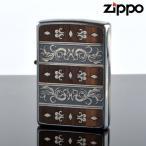 fukashiro ZIPPO 1201s479 ベネチアンウッドSV エッチング ウッドインレイ 両面同柄 ジッポライター