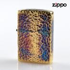 ZIPPO 2ht-bi 5面加工 真鍮メッキイブシ仕上げ ハンマートーン