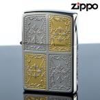 Zippo 2ptg-cro Double Cross ダブルクロス プラチナ ゴールド 両面加工 ジッポライター