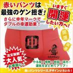 申年 赤い 申赤 縁起肌着 赤パンツ メンズ レディース 猿 プロント 赤