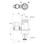 三栄水栓 B98-1B シングル混合栓用分岐アダプター TOTO用 混合水栓