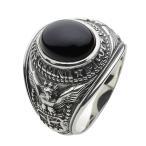 指輪 メンズ シルバーリング カレッジリング オニキス 指輪