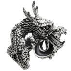 シルバーリング ドラゴン 龍 竜 指輪 メンズ フリーサイズ シルバー925