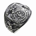 シルバーカレッジリング メンズ 指輪 FFA イーグル 鷹 紋章 シルバー925 シルバーアクセサリー