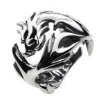 戒指 - シルバーリング 指輪 メンズ ドラゴン 龍 竜 シルバーアクセサリー シルバー925 ピンキーリング