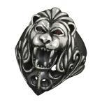 シルバーリング 指輪 メンズリング ライオン 獅子 シルバー925 ハード ゴシック