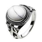 シルバーアクセサリー シルバーリング 指輪メンズ インディアン ホワイトターコイズ ネイティブ シルバー925リング 男性用