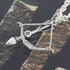 シルバーアクセサリー シルバーペンダントメンズ インディアン 弓矢・アロー ネイティブ シルバー925ペンダントトップ
