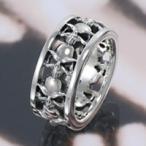 シルバーリング 指輪メンズ スカルリング シルバー925 ドクロ
