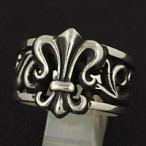 指輪 メンズ ホワイトメタルリング リリー 百合 ユリの紋章