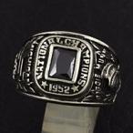指輪 メンズ ホワイトメタルリング カレッジリング