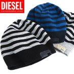 ディーゼル DIESEL ニットキャップ 帽子 メンズ ボーダー柄 ニット帽 K-GROF