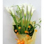 サンシャイン・サンダーソニアとカラーの花束