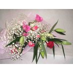 ラブテンダー・バラとユリのカサブランカの花束