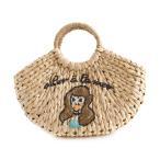 カゴバッグ 籠 夏 レディース バッグ 鞄 カバン ストローバッグ ハンドバッグ バスケット刺繍 ロゴ ピクニック 旅行 おでかけ casselini キャセリーニ