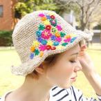 ハット 帽子 レディース キャぺリンハット 花柄 綿麻素材 刺しゅう 紫外線対策 UV対策 リネン 日焼け NYYP4102 フラワー