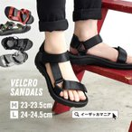 Shoes - スポサン サンダル ベルクロ スポーツサンダル シューズ レディース フラットサンダル ビーチ スポーツ ベルト 軽い サンダル