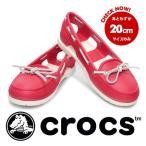 ショッピングフラット フラット パンプス 雨 レイングッズ crocs クロックス beach line boat shoe w