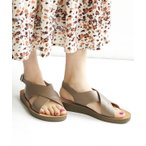 サンダル レディース ベルトサンダル 靴 くつ ストラップサンダル ローヒール 合成皮革 フェイクレザー 軽量 夏 クロスベルトサンダル