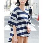 Tシャツ 半袖 五分袖 カットソー 夏 レディース 体型