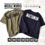 キッズ Tシャツ カットソー 女の子 男の子 春 BIGロゴ ロゴプリント 綿100 子供服  NEEDLE WORKS ニードルワークス  ジュニア