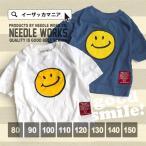 ショッピングTシャツ キッズ Tシャツ ベビー ジュニア プリントTシャツ 女の子 男の子 トップス tシャツ 半袖 カットソー コットン 綿100% ニードルワークス