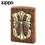zippo ジッポー ライター クロスオブパンサー ブラウン 返品不可 送料無料