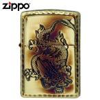zippo ジッポー ライター アーマー 唐草 龍 ギフト プレゼント 贈り物  アラベスク 5面加工 ドラゴン 真鍮 アンティーク 喫煙具