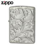 Zippo ジッポー Zippoライター ジッポライター 200 オイルライター 5面 彫刻  シルバー 5NC-LEAF A 返品不可 送料無料