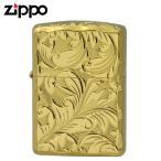 Zippo ジッポー Zippoライター ジッポライター 200 オイルライター 5面 彫刻  ゴールド 5NC-LEAF B 返品不可 送料無料