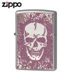 Zippo ジッポー Zippoライター ジッポライター オイルライター 200 フラットボトム メタルペイントプレート スカル 2MPP-Skull(PK) ギフト プレゼント 贈り物