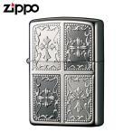 zippo ジッポーライター ダブルクロス プラチナブラックニッケル 2PTBN-CRO ギフト プレゼント 贈り物  オイルライター ジッポライター 彼氏 男性 メンズ 喫煙具
