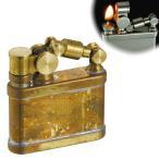 オイルライター スチームパンク かっこいい おしゃれ ミリタリー ビンテージ アンティーク 男性 喫煙具 デューク1 DUKE  ワイルドブラス 真鍮 ギフト プレゼント