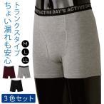 失禁パンツ 男性用 尿漏れパンツ 尿モレパンツ 軽失禁パンツ さわやかガード トランクス ショート 4色組 返品不可 送料無料