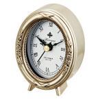 置時計 アンティーク 置き時計 アンティークスタイルクロック オーバル シルバー AC-01802 アイデア 便利