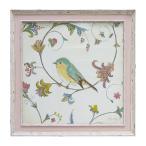 絵画 インテリア 絵 アート フレンチ風 アートフレーム 鳥 バード エミリーアダムス バーズジェム4 ギフト プレゼント 贈り物