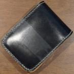 BD-CS-ブラックナチュラル-ブライドルレザー仕様CS-BDCS-黒羽(CROW:クロウ)ハーフウォレット(ショートウォレット:二つ折り財布)