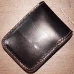 BD-CS-ダークブラウンナチュラル-ブライドルレザー仕様CS-BDCS-黒羽(CROW:クロウ)ハーフウォレット(ショートウォレット:二つ折り財布)