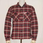 F-SNO-103L-ブラックレッド-チェックネルシャツ103L-FSNO103L-FLATHEAD-フラットヘッドシャツ-CHECK NEL SHIRT-ワークシャツ-チェックシャツ