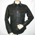 FSD-41-ブラック-鹿革シャツジャケット41-FSD41-FLATHEAD-フラットヘッドディアスキンシャツジャケット