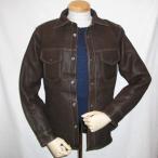 FSD-41-ダークブラウン-鹿革シャツジャケット41-FSD41-FLATHEAD-フラットヘッドディアスキンシャツジャケット