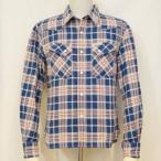 HNW-74W-ブルー-ヘビーネルウエスタンシャツ74-HNW74W-FLATHEAD-フラットヘッドシャツ-ヘビーネルシャツ