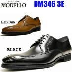 マドラス モデロ メンズ ビジネス スワールモカ 3E madras MODELLO DM346 ブラック ライトブラウン