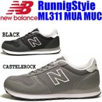 new balance ニューバランス ML311 MUA MUC メンズ レディース スニーカー ランニングスタイル BLACK CASTLEROCK