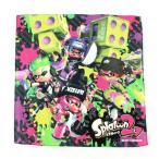 [ゆうパケット送料256円] ゲームで人気のスプラトゥーンのハンカチ  通園・通学に!  ■素  材...