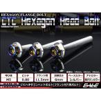 ヘキサゴンヘッドボルト CTC フランジ付六角ボルト M5×12mm ステンレス シルバー/焼チタンカラー