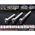 ヘキサゴンヘッドボルト CTC フランジ付六角ボルト M6×10mm ステンレス シルバー/焼チタンカラー